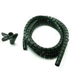 2.5m 8'ft Cable Tidy Set 20mm Diameter with Special Wrapping Tool - BLACK