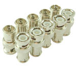 BNC Plug to Coax Female TV PAL Socket Adapter/Converter - 10 Pack
