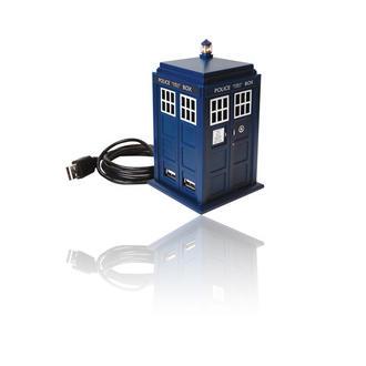 Doctor Who Dr Who TARDIS 4 Port USB 2.0 HUB with Realistic Lights & Sound