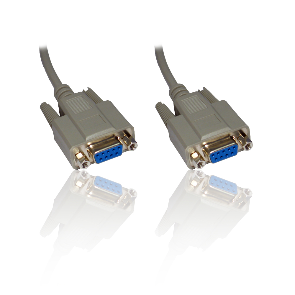 10m 33ft Null Modem Serial Db9 Female Rs232 Rs 232 9pin To 9 Pin Kabel 15 Meter Cable Lead Wire