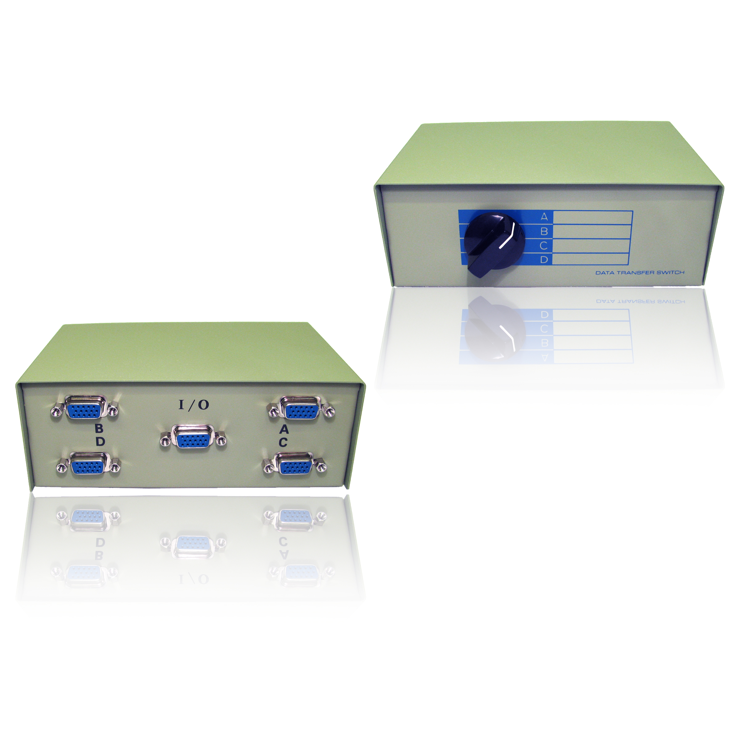 Svga Vga Switch Box 4 Way Port For Tft Crt Pc Computer Screen Monitor Toslink Optical