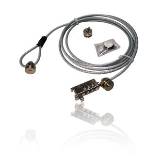 Laptop Notebook Monitor Breifcase Cable Wire Lock Leash fits Kensington Lock
