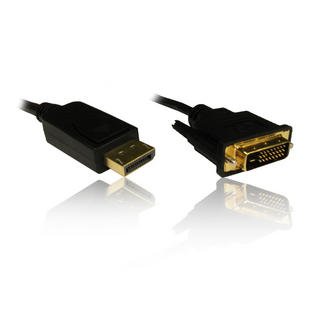 2M Display Port Male to DVI-D Male Adapter Convertor Changer Cable Lead Wire