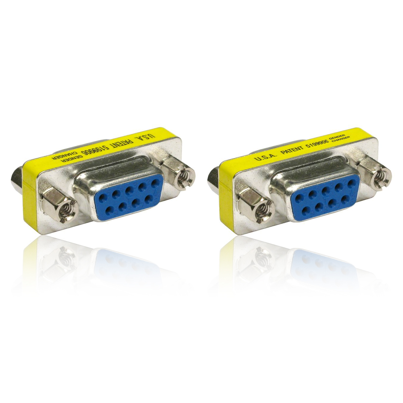 DB9 Serial RS232 COM Gender Changer for USB to RS232 Serial Cable Adapter F//F