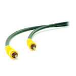 1.2m Single RCA/ Phono Male to Male M-M Video AV Cable/ Lead/ Wire Yellow Plugs