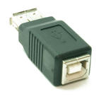 USB 2.0 AF-BF 'A' Female to 'B' Female Gender Changer Cable Lead Adapter Coupler