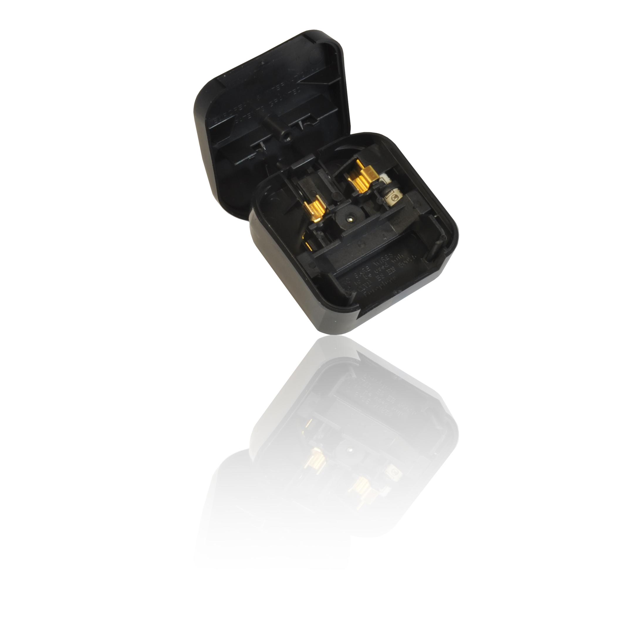 2 Pin Euro Plug To 3 Pin Uk Mains Adapter