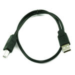 0.50m 50cm USB 2.0 A Male to B Male A-B Printer etc Cable Lead Wire Black