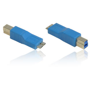 USB 3.0 SuperSpeed B Male to Micro B Male Adapter/Convertor/ Gender Changer BLUE