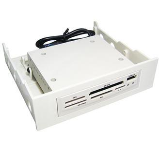 "Beige Internal PC 5.25""/3.5"" Bay Card Reader Writer with USB 2.0 Port MMC SD MS"