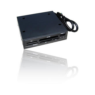"""Internal 3.5"""" Media Card Reader Writer with USB 2.0 Port SD MMC for PC Tower"""