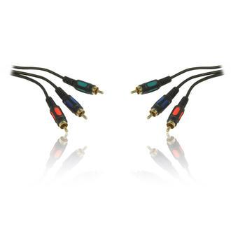 0.15m 15cm Gold Triple Component RGB YUV YPbPr RCA M-M Male to Male Cable Lead