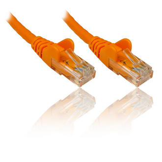 0.25m 25cm ORANGE CAT 6 Gigabit 10/100/1000 Network Ethernet Patch Cable Lead