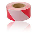 70mm x 500m Red & White Barrier/ Cordon/ Crowd/ Road Work Tape