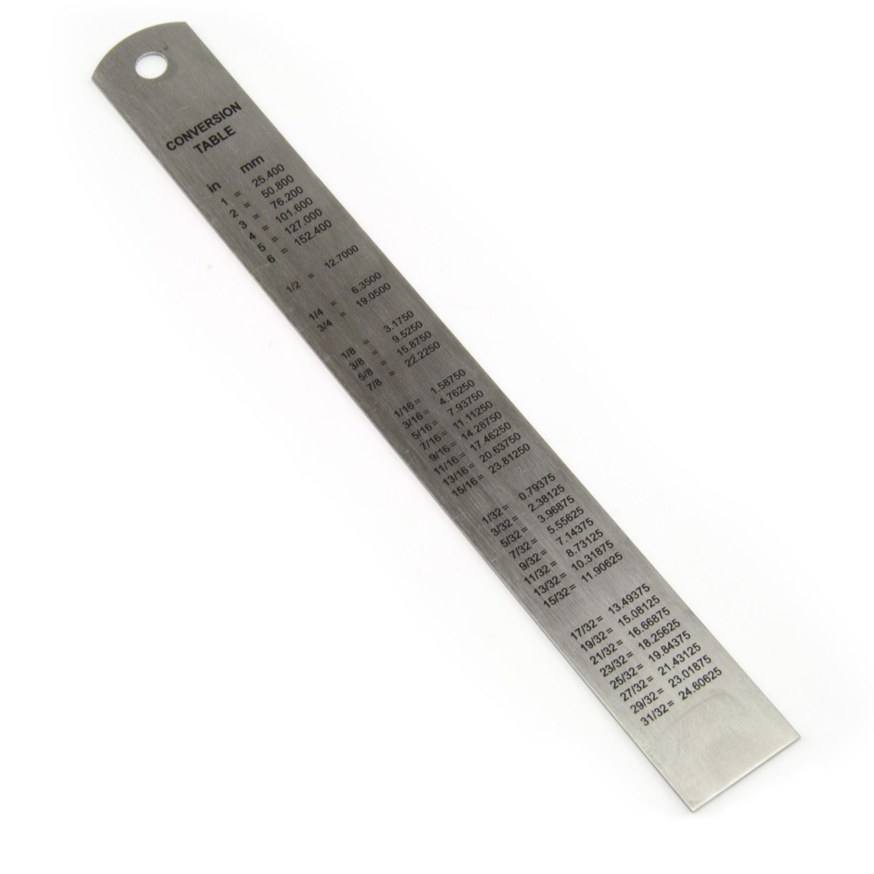 15cm 150mm 6 Inch Stainless Steel Metal Ruler Rule 20mm Wide