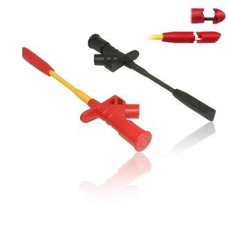 1 Pair Quick Piercing Test Needle Hook Clip Multimeter Testing Probes 4mm Socket