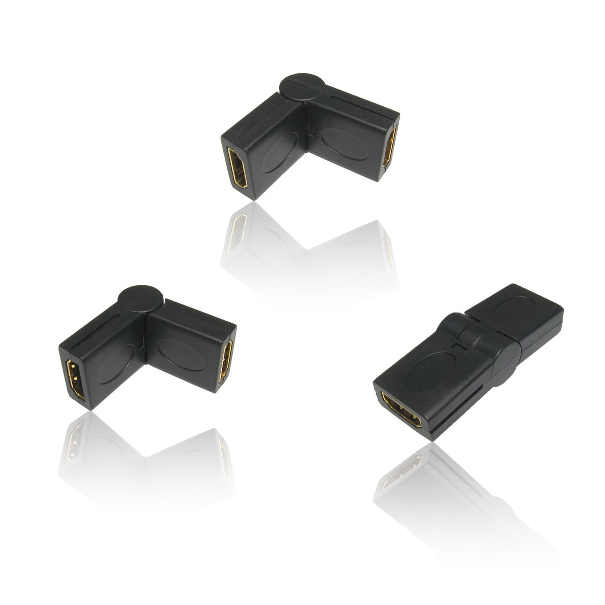 HDMI Female to Female Swivel Cable Adapter Connector Gender Changer Convertor. Thumbnail 2