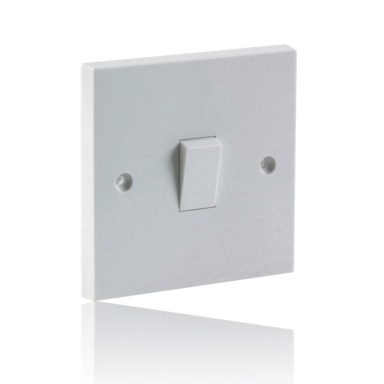 Single Gang 2 Way Light Switch 10A - White