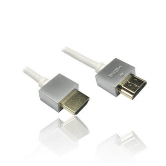0.5m 1'ft HDMI with Ethernet Super Slim & Flexible Cable 3D 4.5mm OD - WHITE