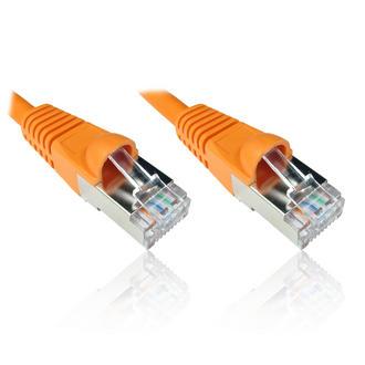0.25m Orange CAT6A 10GBase-T 10 Gigabit Ethernet Patch Cable Lead S/FTP S/STP