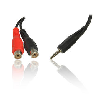 1.8m 6' Feet 2 x RCA/ Phono Female to 1 x 3.5mm Stereo Jack Male Adapter Cable