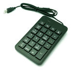 USB Numeric/ Number Keypad for Laptop Notebook PC - Great for Left Handed use