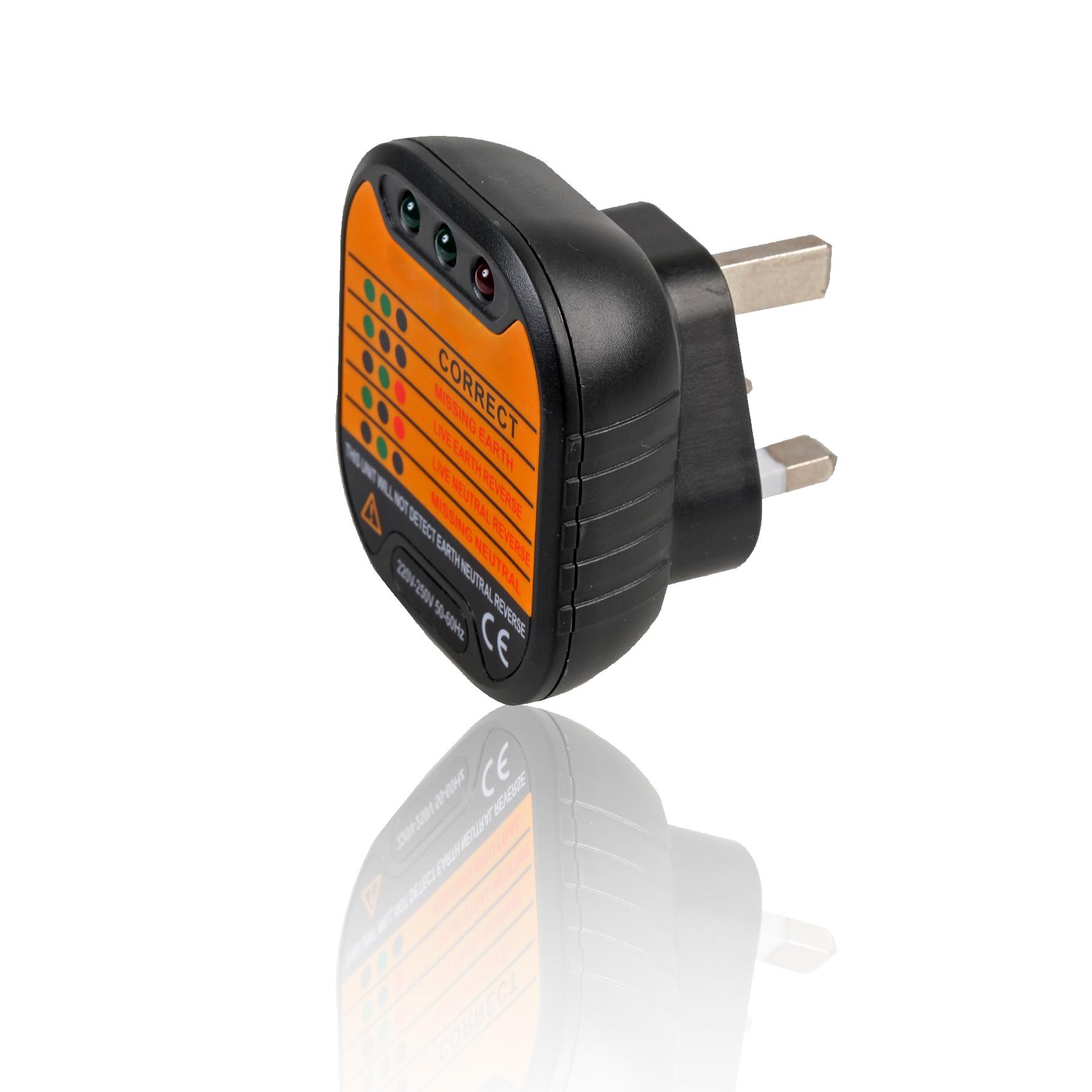 UK Mains Power Plug 13A 230v Socket Tester Wiring Safety Checker ...