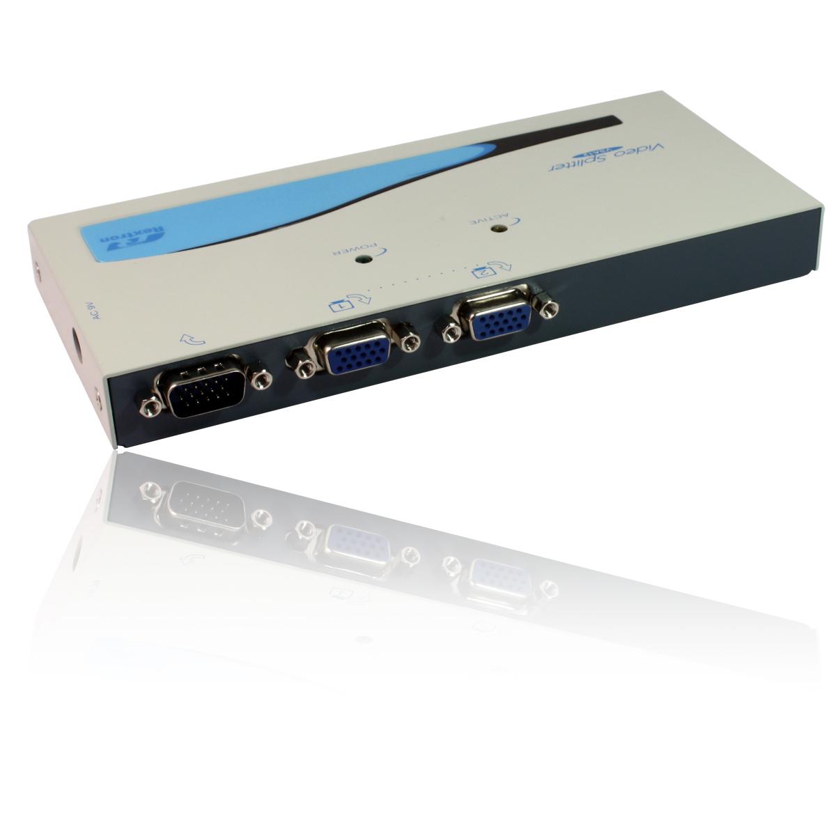 2 Port Way Video Signal Splitter Box Svga Vga Hd15 Hdtv Monitor Y Converter Spliter Thumbnail 3 4 5