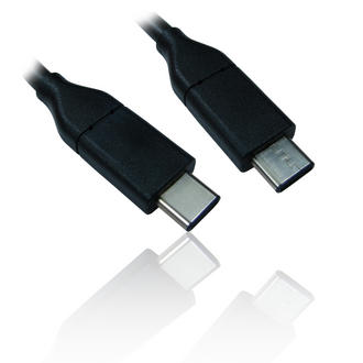 1m 3' Ft USB 3.1 Type-C Male to USB 3.1 Type-C Male Cable Lead - Black