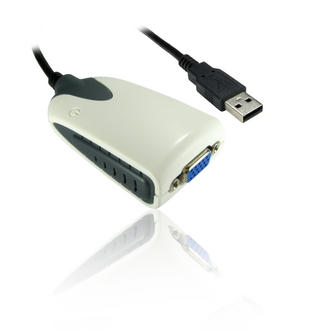 USB 2.0 to SVGA/VGA Cable Lead Wire Dual Extended/Mirrored Desktop Display Video