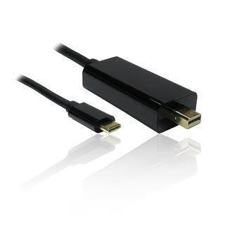 1m Leaded USB Type-C to Mini DisplayPort Male 4K 60Hz Adapter Converter - BLACK