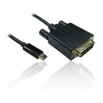 1m 3'ft Leaded USB Type-C to DVI 4k 30Hz Adapter Converter - BLACK