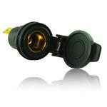 12/24V Built in Cigarette Lighter Power Socket Outlet - DIN 4165 - Black