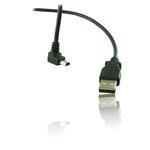 2m 6' Feet USB 2.0 A Plug to 90° Down Angle Mini B 5 Pin Cable Lead Wire - BLACK