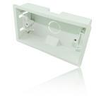 2-Gang Flush Mounting Dry Lining/ Wall - Back Box/ Pattress Box 35mm - White