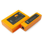 RJ45 & RJ11 Network/Patch LAN Cable Tester with Ground Test & Checker  - ORANGE
