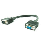 0.3m Male Plug to Female Connector SVGA/VGA TFT Monitor Extension Cable - BLACK