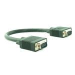 0.3m Male Plug to Male Plug M-M SVGA/VGA TFT Monitor Cable/ Lead/ Wire - BLACK
