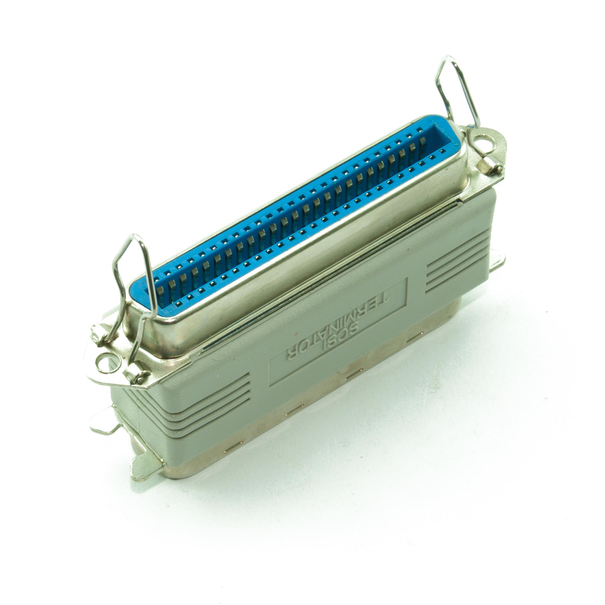 FEMALE PASS THROUGH PASSIVE SCSI TERMINATOR 50 PIN CENTRONICS MALE