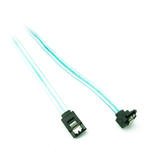 1m 3'ft 180° Female SATA to 90° Female SATA HDD Data Cable Lead 6.0 Gbps - BLUE