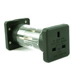 1 Pair 3 Pin UK to 2 Pin European Travel Mains Adapter - Germany,France - BLACK