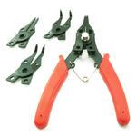 160mm Internal & Extrernal 5 Piece Circlip Pliers Set - RED