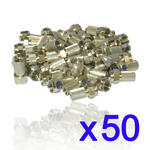 50 x Screw/Twist on F Connectors Fits Satellite TV Aerial Coax Coaxial Cable