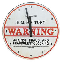 WW1 H M Factory Wall Clock