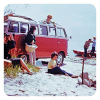 Volkswagen Camper Beach Scene Single Coaster