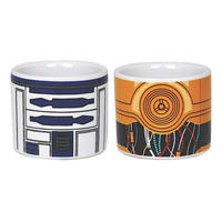 Set of 2 R2-D2 & C-3PO Ceramic Egg Cups
