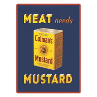 "Colman's Mustard ""Meat Needs Mustard"" Fridge Magnet"