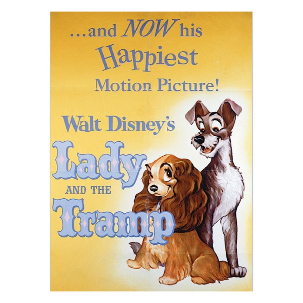 Lady And The Tramp Classic Film Poster Fridge Magnet