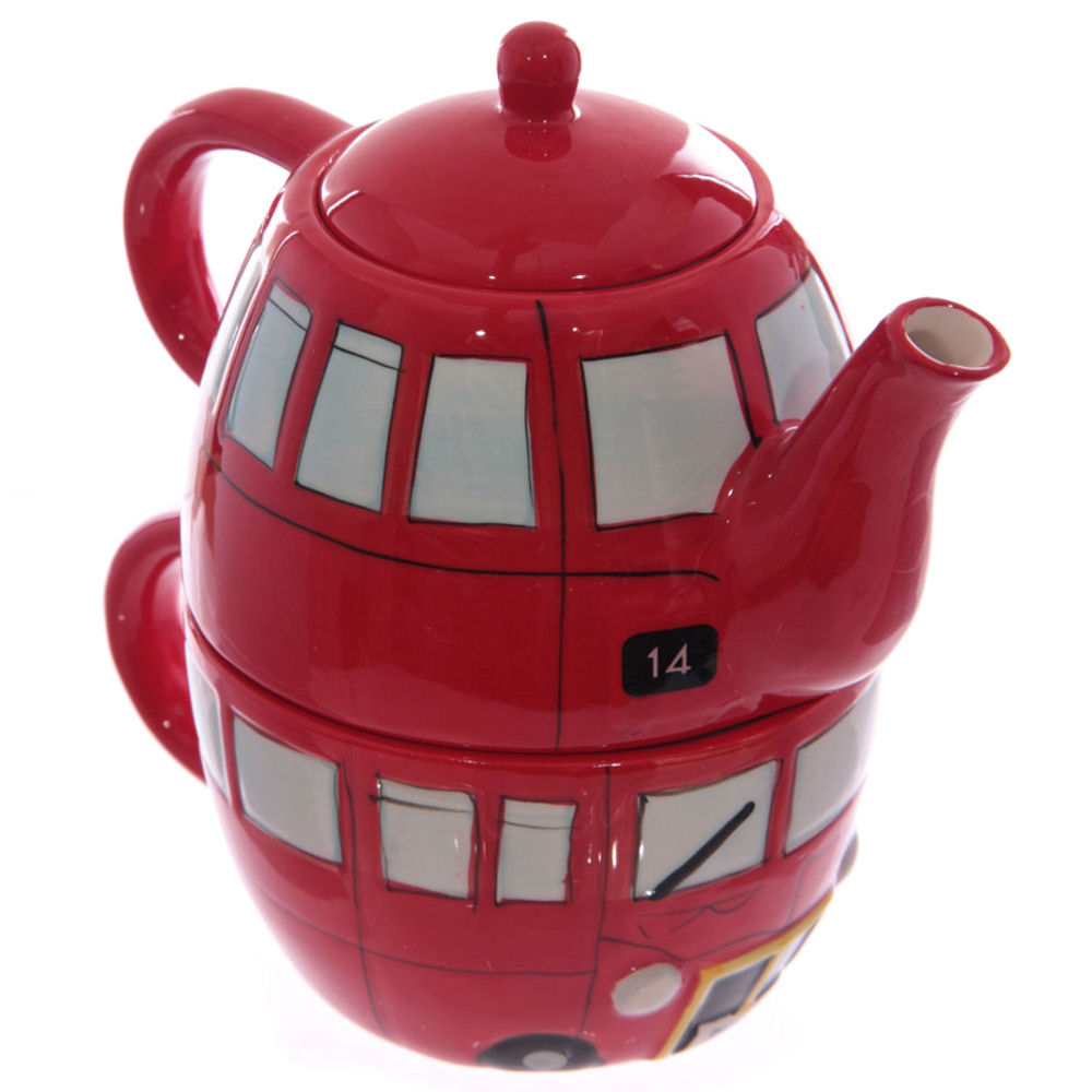 London Routemaster Bus Teapot & Cup Set
