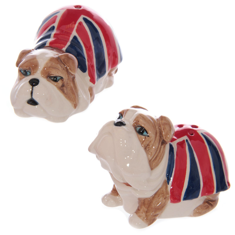British Bulldog Ceramic Salt & Pepper Pots